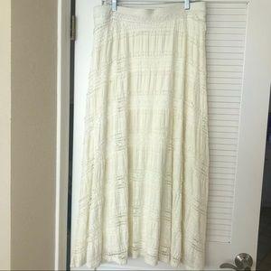 CHICO'S Ruffle Maxi Skirt NWOT!